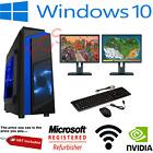 Fast Gaming Pc Computer Dual Screen Intel Core I5 16gb 1tb Windows 10 2gb Gt710