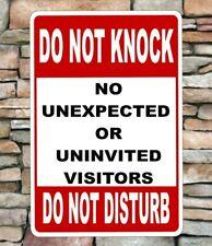Do Not Knock/Disturb Sign No Visitors Aluminum sign 8x12 will not rust outdoors