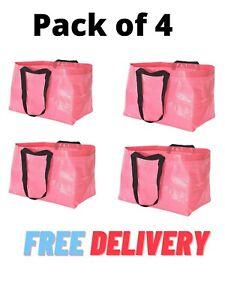 4 Pack Pink IKEA Bag Storage Laundry 19 Gallon Slukis Frakta Free Shipping