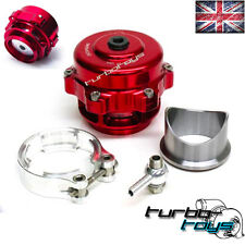 UNIVERSAL 50MM RED V BAND TURBO SUPER CHARGE BLOW OFF BOV DUMP VALVE KIT