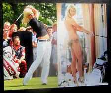 8x10 photo Sophie Horn, pretty sexy celebrity LPGA golf star, posed & action