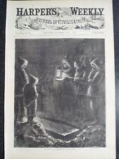 Polaris Polar Arctic Expedition Burial Captain Hall Harper's Weekly 1873