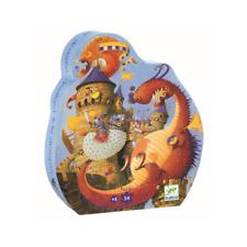 Djeco 54pc Puzzle Vaillant & The Dragon in Shaped Storage Box