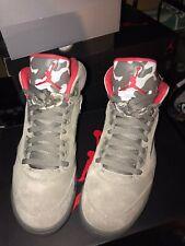 "Nike Air Jordan 5 Retro Dark Stucco ""P51 Camo"" Size UK8 Brand New"