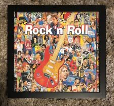 10 1/4� Tall X 11� Wide Rock N Roll Picture In Black Frame