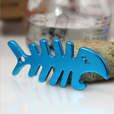Novelty Metal Fish Bone Opener Beer Bottle Opener Aluminum Keychain Bar Tool