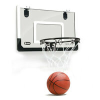 Mini Basketball Hoop With Ball 18 inch x12 inch Shatterproof Backboard J9U4