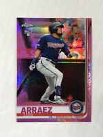 LUIS ARRAEZ 2019 Topps Chrome PINK SP RC REFRACTOR #45! TWINS! CHECK MY ITEMS!