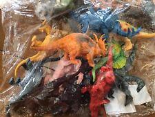 Bag of 12 Dinosaur Toy Figurines Kids Preschool Birthday Party Educational Cool!