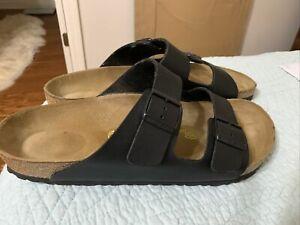 Birkenstock Arizona Soft Footbed Sandal Black Men's Size 13 (EU 46)