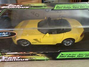 2003 Dodge Viper SRT-10 1:18 Diecast Metal - Brand New