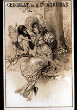 IMAGE CHROMO CHOCOLAT de la Cie AGRICOLE / ANGE & FEMME / ART NOUVEAU
