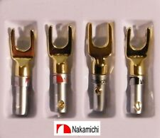 ♫ 2 PAIRES FOURCHES BICOLOR NAKAMICHI GOLD 24 K HIGH DÉFINITION AUDIOPHILE ♫