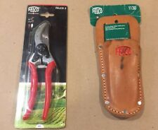GENUINE SWISS MADE FELCO 2 PRUNING SHEARS/SECATEURS AND LEATHER HOLSTER! UNUSED!