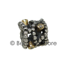 NEW Pandora Diamond Delight 14k 14ct Gold 925 Silver ALE Charm Authentic 790411D
