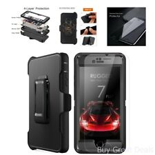 MBLAI Heavy Duty Defense 4 Layers Rugged w/ Belt-Clip Holder For iPhone 7 Plus