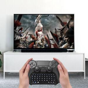 PS4 Bluetooth Wireless Keyboard Game Chat Pad Keypad Station Controller Black UK