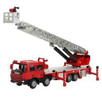 KaiDiWei 1:50 Alloy Aerial Ladder Truck Fire Fighting Car Model Toy Vehicle