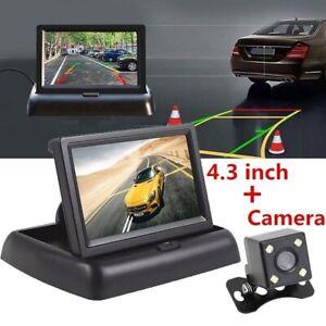 "LCD Monitor Car Reversing Parking Camera Kit 4.3"" Parking Rear View Night Vision"