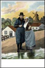 Litho AK ~1910/20 Mann & Frau in Tracht Niederlande Holland alte Postkarte