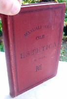 1894 MANUALE HOEPLI 'ESTETICA' PRIMA EDIZIONE. DI MARIO PILO. ARTE DEL 'BELLO'
