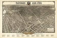 """HUGE Washington DC Map - The Beautiful Capital of the Nation in 1923 - 24""""x 36"""""""
