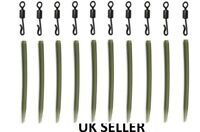 10 x Anti Tangle Sleeves +10 Quick Change Swivels Carp fishing Tackle UK SELLER