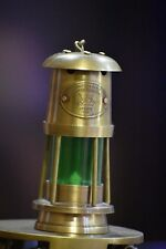 OLD BRASS LANTERN ~SHIP OIL LAMP ~ MARITIME BOAT LIGHT ~ NAVY LONDON 1920