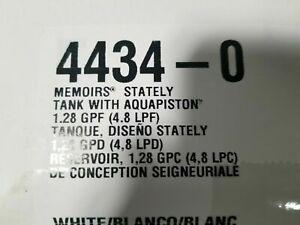 Kohler K-4434-0 White Memoirs Stately 1.28 GPF Tank LID