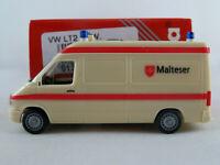 """Herpa 043472 VW LT2 RTW (1996-2002) """"Malteser"""" in gelbelfenbein 1:87/H0 NEU/OVP"""