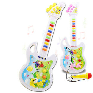 Music Guitar with Microphone Children Playing Musical Instruments Interactive US