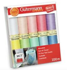 Gutermann Sew All Thread Set - 10x 100m Reels Mix Colours - Summer Pastels