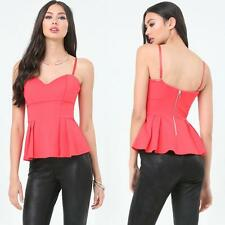 BEBE PINK SWEETHEART PEPLUM NEW NWT TOP SHIRT XSMALL XS