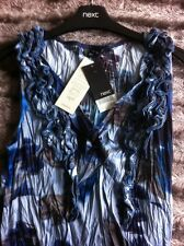 Next Dress Size 14 New Crinkle Blue