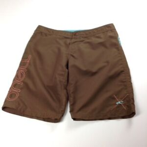 """O""""Neill Size 3 Women's Board Shorts Brown With Pink Accents"""