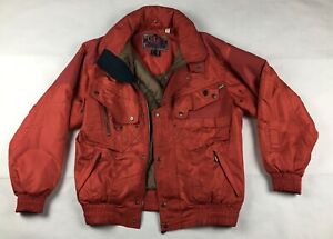 Nevica Red Survival Ski Jacket. Recco Hooded Sz 40. Preowned. 6 Zip Pockets.