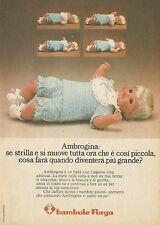 X4658 Ambrogina - Bambole FURGA - Pubblicità 1975 - Advertising