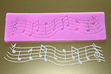 Moule en silicone Notes de musique Strophe fondant randdeko emporte-pièce