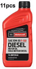 11 Quarts Set Engine Motor Oil Super Duty Diesel Motorcraft XO10W30QFA Ford OEM