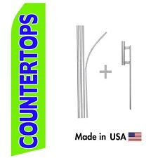 Countertops Econo Flag 16ft Advertising Swooper Flag Kit with Hardware