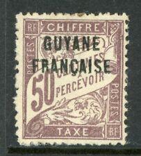 Guyane 1925 French Guiana 50¢ Due Scott #J4 Mint H540