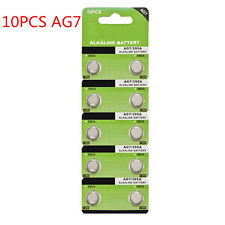 10X AG7 395 SR927 195 LR927 1.5V Alkaline Button Coin Cells Watch Battery Sturdy