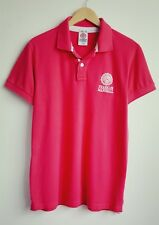 FRANKLIN AND MARSHALL MENS DARK PINK POLO SHIRT SIZE L