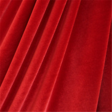 French (Red) 4 WAY Spandex Stretch Velvet Fabric By The Yard// Smooth Back