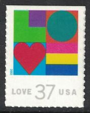 Scott 3657- Love, Colorful Shapes- MNH (S/A) 37c 2002- unused mint stamp