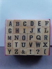 NEW STUDIO G RUBBER STAMPS CAPITAL ALPHABET  1902