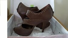 Shoes MISS ME Size 8.5 brown stilettos studded booties NEW box Rock & roll style
