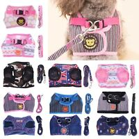 Pet Dog Soft Harness Vest Belt Leashes Puppy Walking Lead Traction Strap Leash
