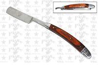 "9"" Pride Cutlery Straight Razor Wood Handle GERMAN Shave Surgical Steel Blade"
