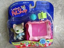 Littlest Pet Shop Portable Pet Gray CAT w/Case lot #20 Retired NIB First 80 Pets